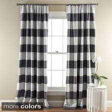 Grey And White Striped Curtains Lush Decor Stripe Blackout Curtain Panel Pair 50 X 84 Free