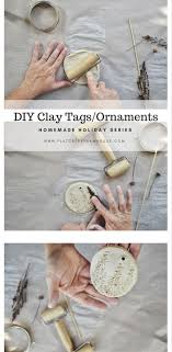 handmade clay tags or ornaments series
