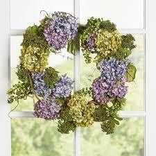 hydrangea wreath one allium way 24 hydrangea wreath reviews wayfair