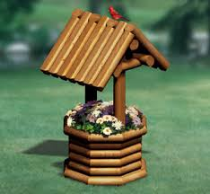 landscape timber wishing well wood plan make this great looking