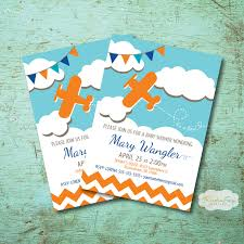 airplane themed baby shower invitation boy baby shower