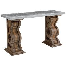 Magnolia Home Furniture Magnolia Home By Joanna Gaines Traditional Hall Table With Zinc