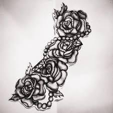 tattoo design roses pearls and diamonds tattoos pinterest