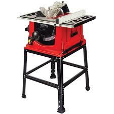 delta 13 10 in table saw general international 13 amp 10 in table saw with stand ts4001