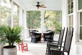 Beadboard Porch Ceiling by Lloyd Flanders In Porch Farmhouse With Wrap Around Porch Stairs