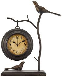 amazon com imax 16159 bird and branch with hanging clock home