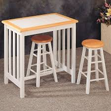 Natural White Tile Top Breakfast Bar Table Stool Set By Coaster - Kitchen bar table set