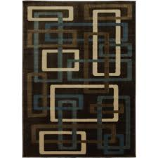 mainstays interlaced woven olefin square rug brown walmart com