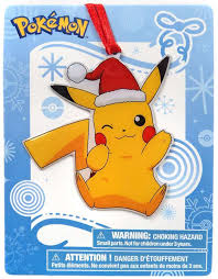 pikachu exclusive ornament santa hat international