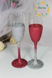 halloween wedding toasting glasses silver u0026fuchsia glitter wedding champagne flutes gradient wedding