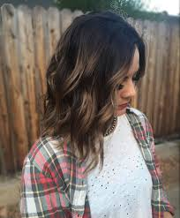 perfect caramel balayage highlights dark brown root on short hair