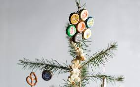 how to bottle cap christmas tree ornaments