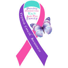 thyroid cancer awareness ribbon rach by pumyra redbubble
