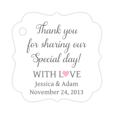 wedding tags thank you for our day tags wedding tags dazzling daisies
