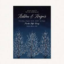 winter themed wedding invitations winter themed wedding invites with shimmering snowy winter trees