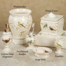 gilded bird ceramic bath accessories