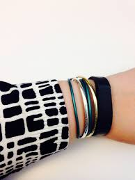 fitbit bracelet leather images Simple bracelet stack idea pandora teal smooth leather bracelet jpg