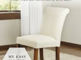 easy chair covers slipcovered dining chair remodel hunt