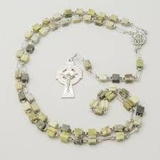 connemara marble rosary connemara marble rosary with knock water font