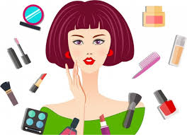 makeup banner woman face sketch lipstick icon free vector in adobe