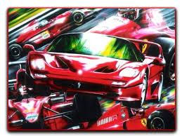 ferrari painting ferrari f50 formula 1 iconic beauty abstract design acrylic on canvas