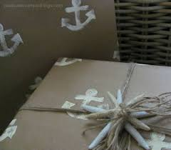 anchor wrapping paper nautical gift wrap pleasure in simple things