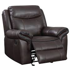Brown Recliner Sofa Kilzer Brown Leatherette Recliner Sofa Chair Home Furniture Direct