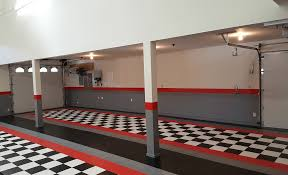 G Floor Roll Out Garage Flooring by David C Black And White Red Border Garage Tile Garage Flooring Llc