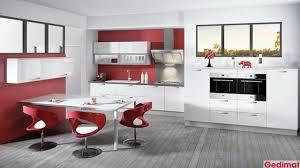 gedimat cuisine cuisine blanche brique mobilier décoration