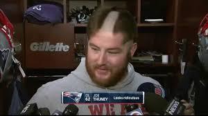 patriots lineman joe thuney showcases rookie haircut nbc sports