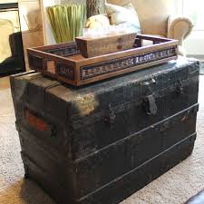 Vintage Trunk Coffee Table Coffee Table Old Trunk Coffee Table Home Interior Design
