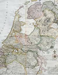 Large Vintage World Map by 1720 Herman Moll Large Antique Map Of The Netherlands Holland