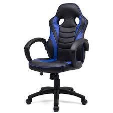 fauteuil bureau inclinable sportline fauteuil de bureau inclinable simili pu bleu