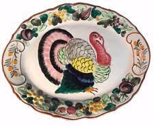 ceramic turkey platter vintage turkey platter italy ebay