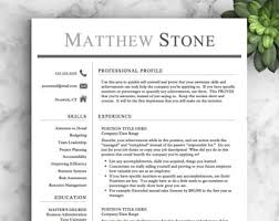 cv layout on word professional resume template with photo modern cv word