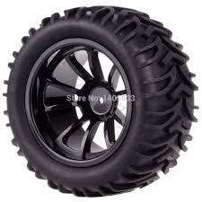 monster jam traxxas trucks 4pcs tires tyre u0026 12mm hex rim wheel for rc 1 10 hsp hpi traxxas
