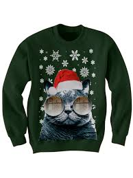 cat sweater sweater santa cat sweater cat with glasses
