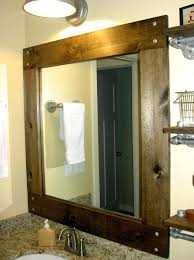 unusual wood framed mirrors for bathrooms incredible bathroom