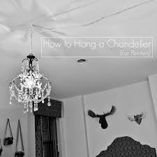 how to hang lights from ceiling how to hang a chandelier for renters apartment pinterest