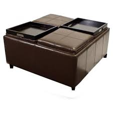coffee tables dazzling square leather ottoman coffee table set