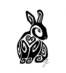 collection of 25 tribal the rabbit design