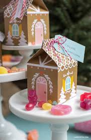 paper gingerbread house treat box lia griffith