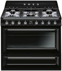 smeg tra90bl freestanding dual fuel oven stove appliances online smeg tra90bl freestanding dual fuel oven stove