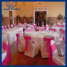cheap chair sashes wholesale sh017b wholesale fancy cheap wedding organza tie hot pink