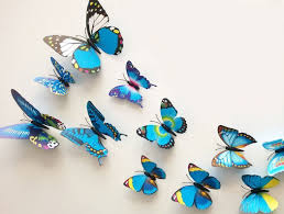 buy 12 pcs 3d butterfly wall stickers decor decals purple
