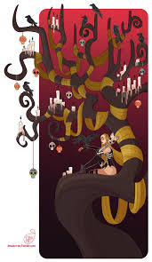 character design halloween tree by meomai on deviantart