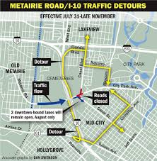 New Orleans Rta Map by Travelers Beware Detours To Start Monday For Canal Street City