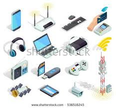 electronic gadgets wireless connection technology electronic gadgets devices stock