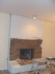 fireplace how to paint brick fireplace white fireplaces