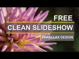 free slideshow after effects template clean smooth parallax